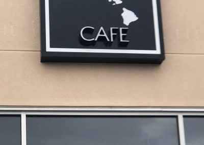 Islands Cafe LED Sign - Built and installed by Rocket Signs