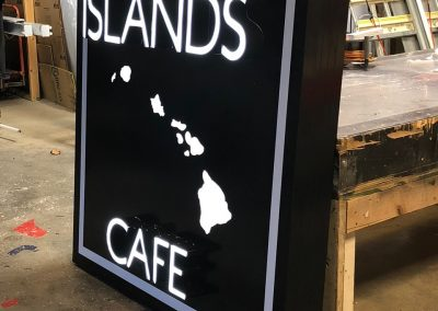 Islands Cafe LED Sign
