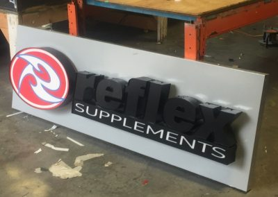 Rocket Signs - Reflex Supplements Channel Letters