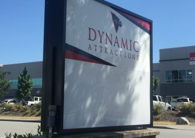 Dynamic Attractions Sign by Rocket Signs